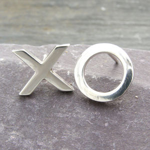 Sterling Silver Xo Earrings