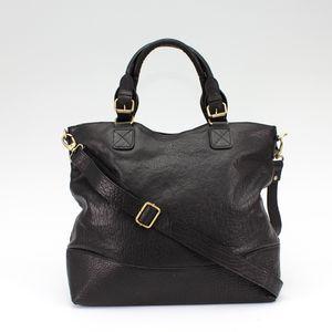 Black Leather Classic Tote - shopper bags