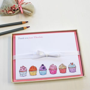 Personalised Cupcakes Notecards Set - notelets