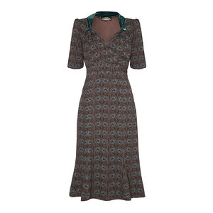 Eliza Dress In Belle Epoque Print Crepe - women's fashion
