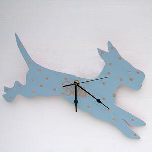 Personalised Pets Wooden Clock - children's clocks