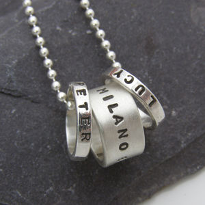 Personalised Hoop Pendant - gifts for him