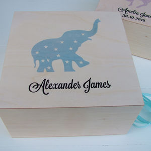 Childhood Memories Wooden Keepsake Box - 1st birthday gifts