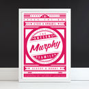 'The Awesome Family' Personalised Retro Print