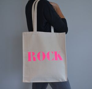 'Rock' Tote Bag - shoulder bags