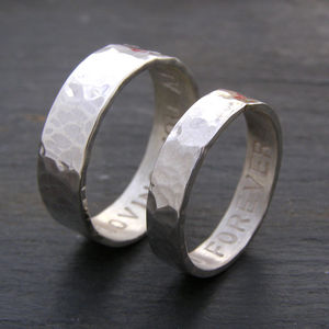 Personalised His And Hers Rings - wedding jewellery