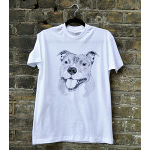 Happy Staffy T Shirt - women's fashion
