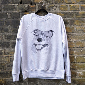 Happy Staffy Lightweight Sweatshirt - jumpers & cardigans