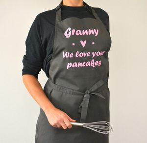 Personalised 'We Love Your Pancakes' Apron