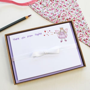 Personalised Fairy Princess Notecards Set - writing accessories