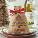 Personalised Christmas Tree Mini Christmas Sack