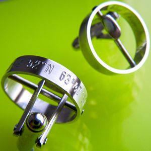 'The Day My Life Changed' Cufflinks - men's jewellery & cufflinks