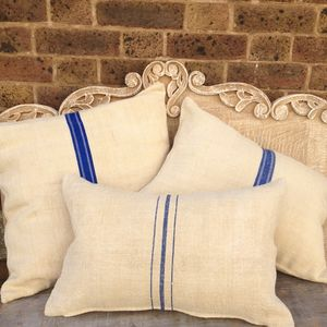 Vintage French Linen Striped Cushions