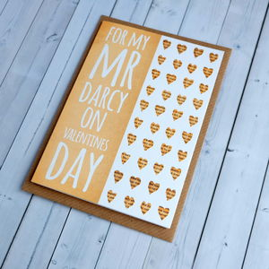 Pride And Prejudice Mr Darcy Valentines Day Card - view all sale items