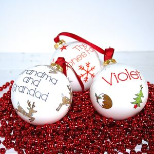 Personalised Christmas Bauble - view all decorations