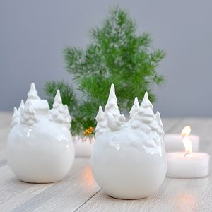 Ceramic Snowball Ornament - christmas home accessories