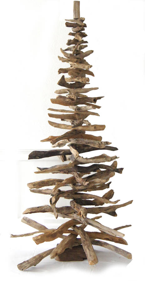 Natural driftwood christmas tree by karen miller doris for Hanging driftwood christmas tree