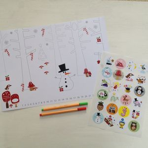 Colour In Advent Poster With Daily Countdown Stickers - advent calendars