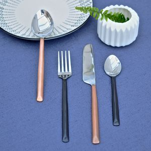 Copper And Black Cutlery Collection