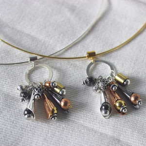 Mixed Metal Wind Chime Necklace - necklaces & pendants