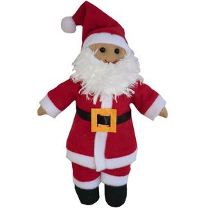 Mini Father Christmas Rag Doll