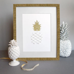 Pineapple Papercut - art & pictures