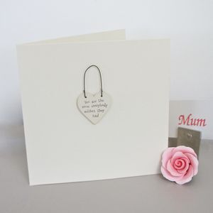 'The Very Best Mum' Handmade Card - seasonal cards