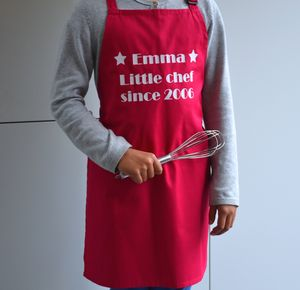 Personalised 'Little Chef' Kids Apron - aprons