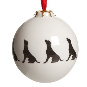 Dog Breed Silhouette Individual Christmas Baubles - tree decorations