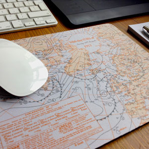 Personalised Weather Map Mousemat