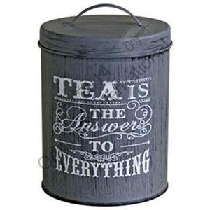 Tea Caddy Storage Tin