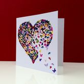 Kaleidoscope Butterfly Heart Card - cards