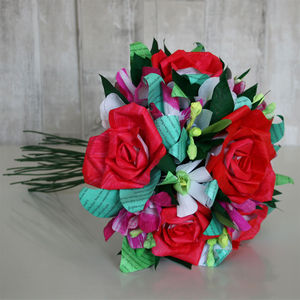Colour Drop Paper Flower Bouquet - table decorations