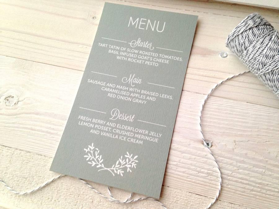 perfect day wedding menu card by pear paper co – Wedding Menu