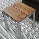 Retro Style Distressed Oak Side Table