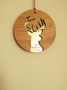 Personalised Laser Cut Christmas Decoration