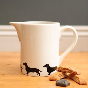 Smooth Haired Dachshund Pitcher Jug