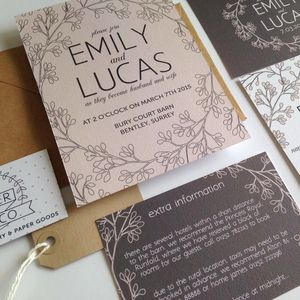 Secret Garden Wedding Invitation - wedding stationery