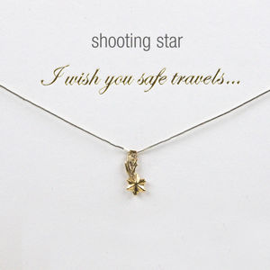 Safe Travels Shooting Star Charm Necklace