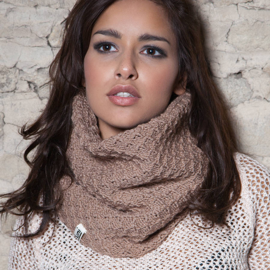 Chunky Textured Hand Knitted Snood