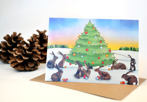 Bunny Rabbit Christmas Card
