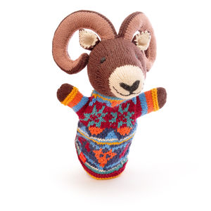 Ram Hand Puppet In Organic Cotton