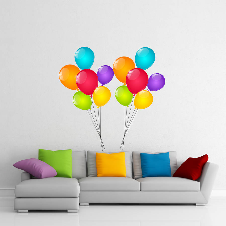 balloon wall stickers by parkins interiors rainbow balloon wall sticker wall stickers for kids