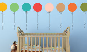Pastel Balloon Wall Stickers - decorative accessories