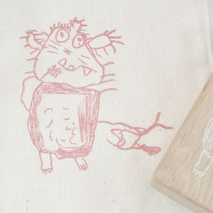 Your Child's Drawing Stamp Made To Order