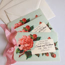 Red Rose Wedding Save The Date Cards