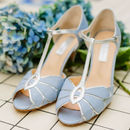 Mimosa Leather T Bar Wedding Shoes