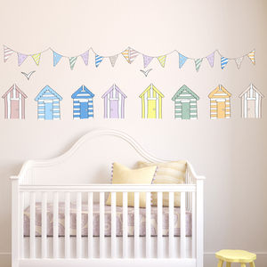 Beach Huts Wall Stickers - shop by price