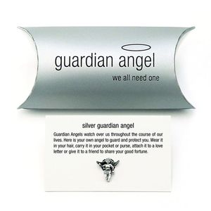 Guardian Angel Charm Pin Brooch