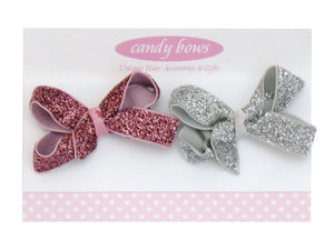 Glitter Bows Gift Set - women's accessories
